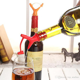 Wholesale Plastic Sauce Bottles - Double Oil Bottle Mouth Stopper Plastic Sauce Bottles Nozzle Caps Wine Stopper Pour The Liquid Guiding Device Free DHL XL-438
