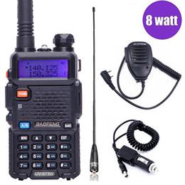 radios de caza Rebajas Baofeng UV-5R 8W de alta potencia de gran alcance walkie talkie Radio bidireccional 8Watts cb radio portátil de 10 km de largo alcance pofung UV5R Caza