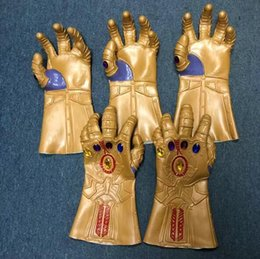 Wholesale avengers props - 2 Colors Infinity Gauntlet Avengers 3 Infinity War Thanos Gloves Cosplay Thanos Cosplay Glove Halloween Props CCA9774 10pcs
