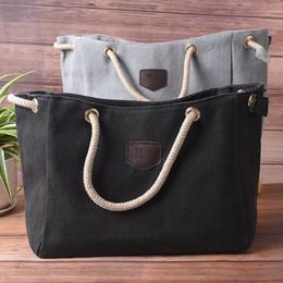 2019 сумки для покупок Women Casual Canvas Handbags Large Capacity High Quality Female Vintage Solid Multi-pocket Lady Totes Single Shoulder Bag скидка сумки для покупок