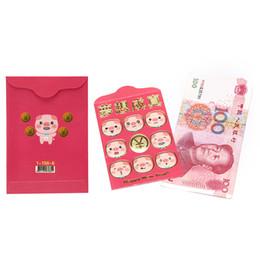 2019 pack cadeau du nouvel an chinois Peerless 6pcs / pack Enveloppe rouge à remplir en argent Tradition chinoise Hongbao Cadeau Présent Nouvel An Mariage Enveloppe Rouge Cadeau pack cadeau du nouvel an chinois pas cher