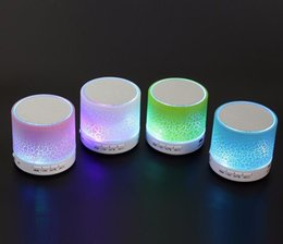 Wholesale Control Seal - Hot Mini Bluetooth LED Light Speaker S08U Portable Speakers Suppor Hands-free Calls Volume Control TF Card Music Playing Built-in Microphone