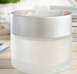 Pots de crème glacée de 50 ml, bocaux en verre dépoli, flacons de crème de soin de la peau, récipients cosmétiques NOUVEAU ? partir de fabricateur