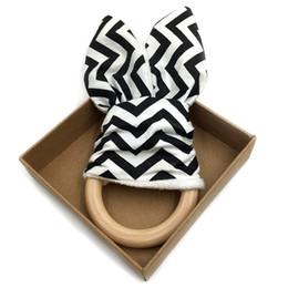 Grandi giocattoli ferroviari online-Baby Dentizione / Tessuto e dentizione in legno con materiale interno piega / Giocattolo sensoriale Massello naturale massello tinta unita Grande fiocco