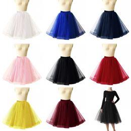 Wholesale cheap black petticoats - 0 Colors Short Wedding Petticoat Skirts Tulle Crinoline 2018 Underskirt Tutu For Girl Cheap Wedding Accessories CPA1090