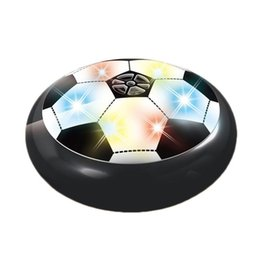 Wholesale Electric Cushion - LED Football Fashion Children Toys Suspension Electric Air Cushion Soccer Hover Ball For Kids Boy Latest Indoor Game Q0585