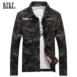Giacca di stile dell'esercito delle donne online-Giacca in cotone camouflage uomo donna primavera US Army Camo Cappotto in pelle stile maschile esterno giacca casual casual Jean Jackets, UMA422