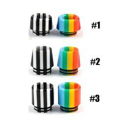 Atomizzatore rainbow rda online-810 Filo Rainbow Funghi Resina Bore Largo Bocchino Puntali a goccia per TFV8 Big Baby Kennedy GOON 528 RDA TFV12 Serbatoio Prince Atomizzatore