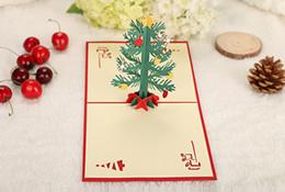 Canada Livraison gratuite 3 $ 10 Carte de Noël En trois dimensions En forme de cloche En forme de sapin Offre