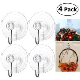 Wholesale Super Sucker - OUNONA 4pcs Wreath Holders Super Absorption Suction Hangers Cups Suckers Hooks For Kitchen Bathroom Pot Shovel Hook Storage