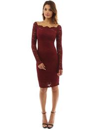 2018 nuovo stile occidentale hollow-out manica lunga vestito da donna moda sexy pizzo abito da donna in pizzo da