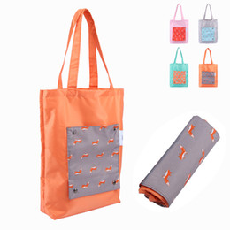 purse flats Promo Codes - Fashion Oxford Shopping Bag Clothing Storage Organization Bags Travel Foldable Single Shoulder Bags Women Beach Waterproof Purse