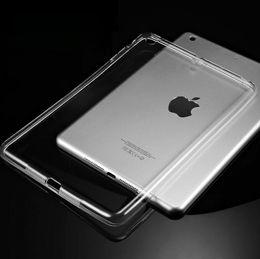 2019 capa traseira suave Silicone case para ipad air 2 air 1 limpar transparente case para ipad 2 3 para ipad 4 mini mini 4 soft tpu tampa traseira tablet case desconto capa traseira suave