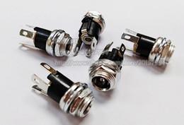 tomas dc Rebajas DC 5.5x2.1mm Jack Socket Panel-Mount Plug Adapter / Envío libre / 20PCS