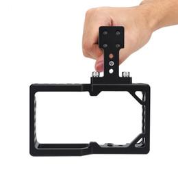top dslr kameras Rabatt Aluminiumlegierung Videokamera Käfig Protector Stabilisator mit Top Griff Kit für BMPCC DSLR