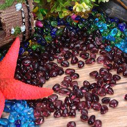 Wholesale Glass Background - Artificial Blue Light Stone Fish Tank Aquarium Background Decoration Acrylic Glass Pebbles Ornament Walkway Garden Home Supplies