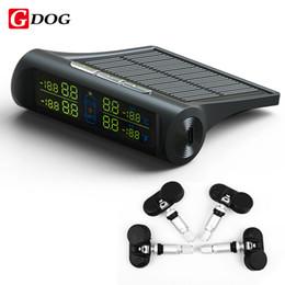 2019 cajas de energía solar G-DOG X1 sistema de monitor de presión de neumáticos de energía solar TPMS con sensores internos Pantalla LED negro de 4 ruedas cajas de energía solar baratos