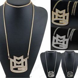 Canada CARA 2017 nouveau ICED sur MAYBACH MUSIC GROUP MMG Pendentif Franco chaîne collier maxi hip hop collier EMEN 's collier bijoux chokers supplier ice music Offre