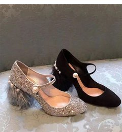 Wholesale Sequin Dance Shoes - Silver Feather Fringe High Heels Dance Shoes Woman Pearl Crystal Sequin Rhinestone Tassel Wedding Pumps Women