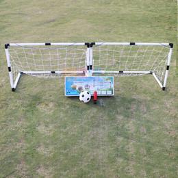 2019 juegos 2 Unids Mini Balón de Fútbol de Fútbol Meta Plegable Post Net + Pump Kids Deporte Juegos de Juegos Al Aire Libre de Interior juegos baratos