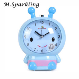 Wholesale Model Bees - M.Sparkling Alarm Clock Cartoon Bee Model Table Clocks Mute with Light Speaker Bees for Children