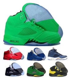 Wholesale china grey - Sale 5 5s Basketball Shoes Mens Women V White Suede Cement Oregon Ducks Olympic Grape Raptors Pro Classic China Tennis Sport Shoe Sneakers