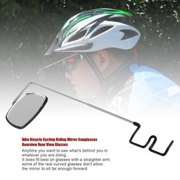 2019 rückspiegelgläser Fahrrad Radfahren Reiten Brille Spiegel Sonnenbrille Rearview Rückansicht Gläser heißer Verkauf günstig rückspiegelgläser