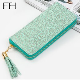 Wholesale Gild Phone - Retro Women leather wristlet long Wallet Clutch gilding pattern female phone purse lady cash coin Purse Card holder femme Bolsos
