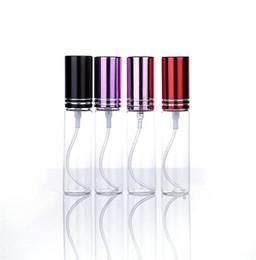 Стеклянные флаконы онлайн-10 цветов мини 10 мл металл пустой стекло духи многоразового бутылки спрей духи распылители бутылки Бесплатная доставка