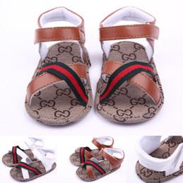 Sandalen für babys online-Baby Sandalen Sommer Kinder Jungen PU First Walker Schuh Baby Fashion Anti-Rutsch-Schuhe