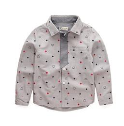 camicie scolastiche per ragazzi Sconti 2018 New Children Boys Abbigliamento Set Gentleman Kids Fashion Camicetta Pantaloni in cotone a maniche lunghe Abbigliamento T-shirt scuola per bambini