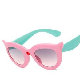 Kinder cartoon gläser rahmen online-CUT Kinder Cartoon Persönlichkeit Sonnenbrille Dicke Sonnenbrille Fox Form Brillen Anti-UV Brille