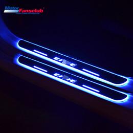 Ha portato le luci di portello del portello online-2 Pz Movimento Luce Nerf Bar Car LED Pedale per Honda Civic 9th 2012-2015 Scuff Plate Tirm Acrilico Guardie Welcome Door Sill Pathway