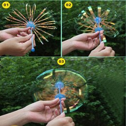 Wholesale Wholesale Toys Bubble Wand - 1Pcs Funny Popular Soap Bubble Outdoor Activety Wands Toys Amused for Children Kid Baby Colorful Shook Stick Blowing Bubble Play