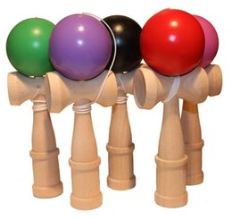 Wholesale Wood Toy Swords - Kid Funny Kendama Skill Ball Japanese Traditional Sword Ball Wood Game Ball Educational Toy Gifts