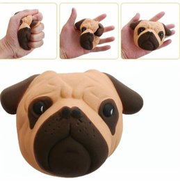 Wholesale Dog Bubbles - Squishy Big Dog Face Head 11.5cm Sharpei Simulation Toy Animal Bubble bread Kawaii cake slow rebound Cute squishies decompression gift Free