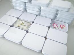 Weiße speicherdosen online-200 stücke 110X80X25mm Rechteck weiß tee blechdose mint pille candy schmuck aufbewahrungsbox kostenloser versand