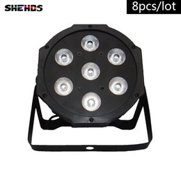 Discount american dj par led - 8PCS LOT American DJ Flat SlimPar Quad 7 RGBW Color Mixing LED Flat Par 7x12W RGBW Lighting Fast Shipping