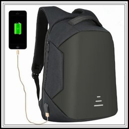 Wholesale Laptops 16 - 4 Colors USB Charge Backpack Anti-theft Backpack 16 Inch Laptop Backpacks Unisex Waterproof Backpacks Computer Bags CCA9272 2pcs