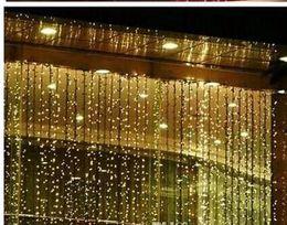 Lámpara cayendo online-Lámparas de Led Conjunto de Lámpara Intermitente 10M x2M Caída de Luz de Navidad Impermeable Cortina de Luz de Luz de Boda AC 110v-250v
