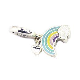 Argentina Encantos del corazón del arco iris del amor colgante S925 ajustes de plata para la pulsera del estilo de Pandora 797016ENMX H8 cheap charms for pandora style bracelets Suministro