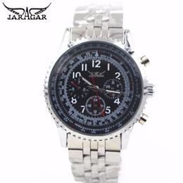 Женские часы jaragar онлайн-JARAGAR Automatic Watches Man Sports Steel Clock Fashion Automatic Wristwatch Men Famous Design  Business Black Watches