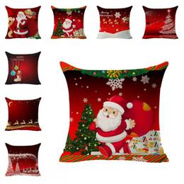 Copricuscini Cuscini Copricuscino Copricuscino Decorazioni natalizie Copricuscino Cuscino Cuscino Copricuscino Cuscino Decorativo 45 * 45cm da cuscino rosso cane fornitori