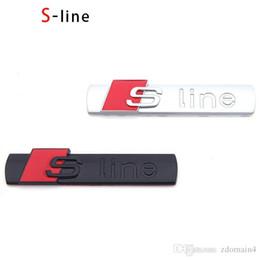 3D S линия Sline автомобилей передняя решетка эмблема знак наклейки аксессуары стайлинг для Audi A1 A3 A4 B6 B8 B5 B7 A5 A6 C5 C6 A7 TT от