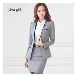 313499b74de2 Women business Suits 2017 Fashion Women s skirt Suit slim Suit Jackets with Pants  Office Ladies formal OL Pants Work wear sets