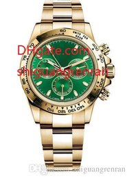 Banda de reloj 18k online-3 Estilos Alta calidad hombres de lujo relojes 40mm 116508 116503 18k oro amarillo esfera verde banda de acero inoxidable reloj automático sin cronógrafo