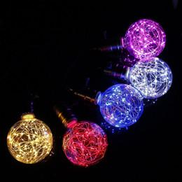 2019 lampadine 3x3w e14 Lampadina a LED E27 220V vintage LED stringa di vetro colorato lampada fata luci per illuminazione interna decorazione di nozze di Natale