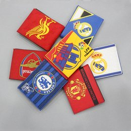 Wholesale Money Cup - New Arrivel World Cup Printing PU Leather Money Wats Short Purse Quality Designer Card Holder Purse Wallet Money Bag Free Shipping