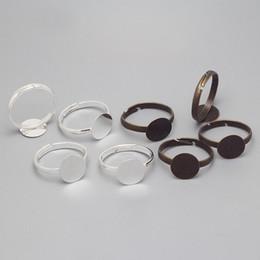 Base do anel de atacado on-line-Atacado-Simples Anel Ajustável Bases Anéis em Branco Anel Achados Componentes 10mm Anéis Cabochão Ajustes Achados 100 pçs / lote 8406