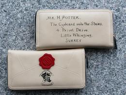 lila leopardgeldbeutel Rabatt Harry Potter Brief Zip Around Wallet PU lange Mode Frauen Geldbörsen Designer Marke Geldbörse Lady Party Wallet weiblichen Kartenhalter